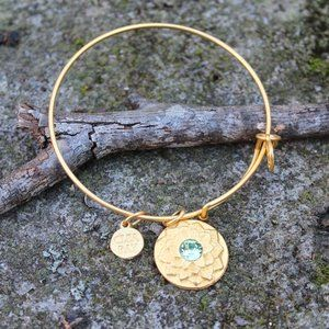 [5/$25] Adjustable Gold Crystal Flower Bracelet